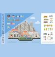 flat city elements concept vector image vector image