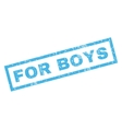 For Boys Rubber Stamp vector image vector image