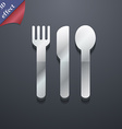 fork knife spoon icon symbol 3D style Trendy vector image