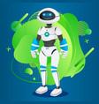 futuristic humanoid manlike robotic creature vector image
