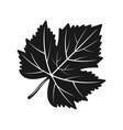 grape leaf black silhouette object vector image