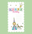 happy birthday card for little girl vector image vector image