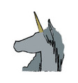 head unicorn horn fantasy animal mythology vector image vector image