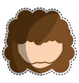 hippie man face with moustache vector image vector image