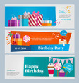 Horizontal banners set birthday party