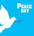 international peace day origami dove birds vector image vector image
