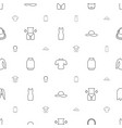 lady icons pattern seamless white background vector image vector image
