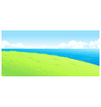 Lake green landscape vector image