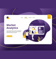 landing page market analytic modern style can be vector image