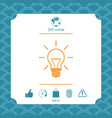 light bulb - new ideas vector image vector image