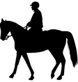 man on the horse silhouette vector image vector image