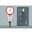 Manager with fast approved credit card vector image vector image