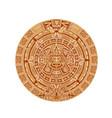 mayan calendar ancient mexican round stone vector image vector image