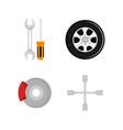 mechanic service set icons vector image