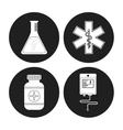 Medical care icons design vector image vector image