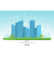 modern city with skyscrapers vector image vector image