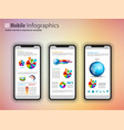 modern touchscreen mockup phones with tefchnology vector image