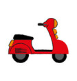 motorcycle draw vector image vector image
