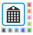 multi-storey house framed icon vector image