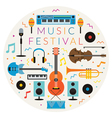 Music Instruments Objects Label vector image vector image