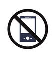 no cell phone vector image vector image
