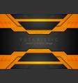 orange black tech corporate geometric abstract vector image vector image