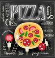 pizza cover menu vector image vector image