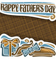 poster for fathers day vector image