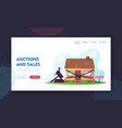 property confiscation landing page template vector image vector image