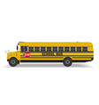 real school bus on a white background vector image