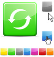Refresh glossy button vector image vector image