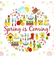 round spring background vector image