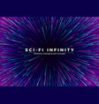 sci-fi universe infinity abstract background vector image vector image
