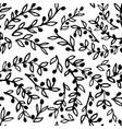 seamless pattern of hand-drawn olive branches on vector image vector image