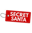 secret santa label or price tag vector image vector image