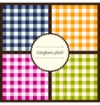 Set of gingham plaid patterns vector image vector image