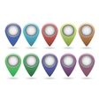 set of map pointers eps10 vector image vector image