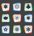 set of simple icons element