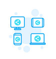 shared screen icons vector image