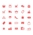 Shopping retail and money flat icons set