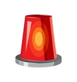 Siren red flashing emergency light icon vector image vector image