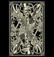Skeleton playing card vector | Price: 5 Credits (USD $5)