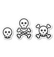 skull labels set vector image vector image