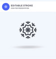 snowflake icon filled flat sign solid vector image vector image