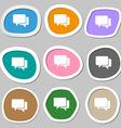 Speech bubbles symbols Multicolored paper stickers vector image