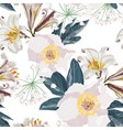 spring flower seamless pattern vector image vector image