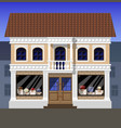 store of luxury bags in the old part of the city vector image vector image