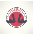 symbol of guarding protection escort and vector image vector image