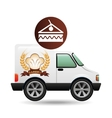 transport of piece of cake vector image vector image