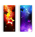 Two Banners with Abstract Stars vector image vector image